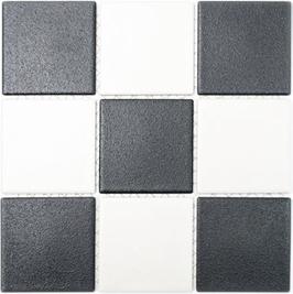 Antislip Mosaik mix schwarz weiß h10182 (Duschboden geeignet)