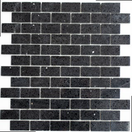 Artificial Mosaik schwarz h10621