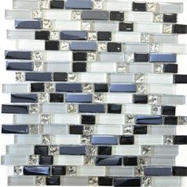 Qin Shi Mosaik mix weiß grau schwarz h10778