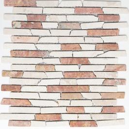 Bali Mosaik beige rot h10486 Riemchenmosaik / Stabmosaik