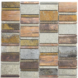 Urban-Mix Mosaik mix grau rost kupfer h10393