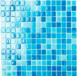 Water Mosaik mix hellblau mit blau h10678