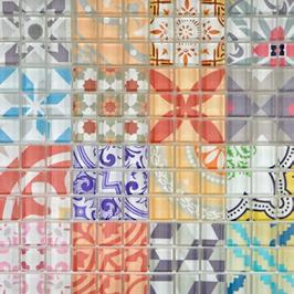 Retro Mosaik violett h10785, blau h10786, rot h10787 (und oder) grau h10788