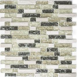 Ice Cube Mosaik mix grau grün h10984