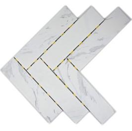 10 Stück Holzoptik Dot Mosaik weiß h10143