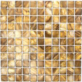 Anadonta Mosaik mix beige mit braun h10331 Muschelmosaik SM 2569