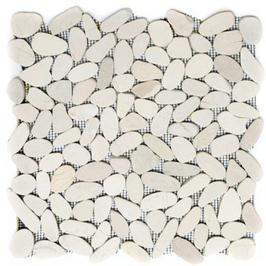 Pebble Mosaik weiß h10403