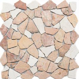 Bali Mosaik mix beige rot h10484 Bruchmosaik