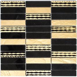 Design Mosaik mix gold mit schwarz h10431 (und oder) mix silber mit schwarz h10432