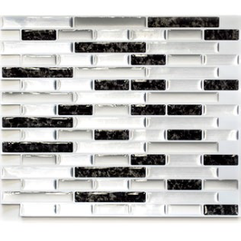 Improve Mosaik 4er Pack selbstklebendes Vinyl mix silber schwarz h11156