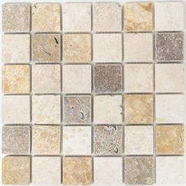 Face Mosaik mix beige mit braun h10617