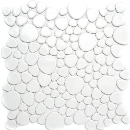 Pebble Mosaik weiß h10098 (und oder) schwarz h10100