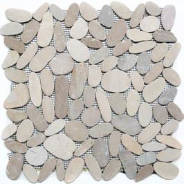 Pebble Mosaik hellbeige h10402, weiß h10403 (und oder) schwarz h10404
