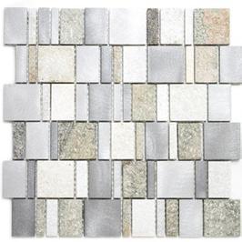 Urban-Mix Mosaik mix silber grau hellbeige h10391