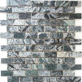 Quarz Mosaik silber grau h10414