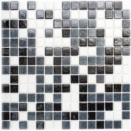Water Mosaik mix weiß grau schwarz h10676