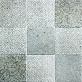Retro Mosaik grau h10015