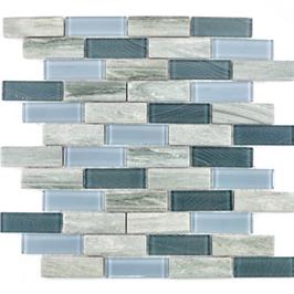 Style Mosaik Keramik mit Glas mix grau h10033