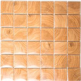 Wood Mosaik beige mit braun h10137