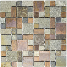 Urban-Mix Mosaik mix grau rost kupfer h10395