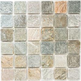 Quartz Mosaik mix beige mit grau h10405