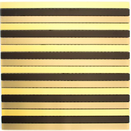 Modern Mosaik mix schwarz bronze gold h10344