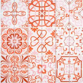 Qin Shi Mosaik Retro rot h10787