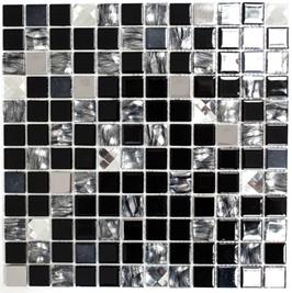 Improve Mosaik selbstklebend mix schwarz h11140