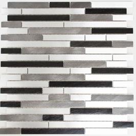 Modern Mosaik mix grau mit schwarz h10340 (und oder) mix beige mit braun h10343