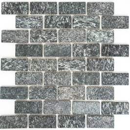 Quarz Mosaik mix schwarz mit anthrazit h10411