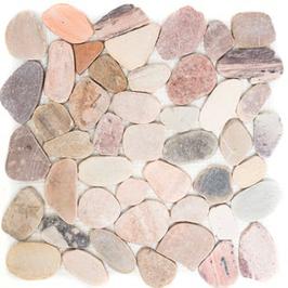 Pebble Mosaik mix beige grau rot h10400
