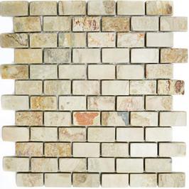 Schiefer Mosaik mix beige mit rost h10416