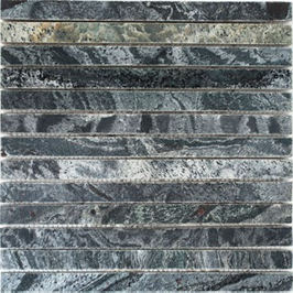 Quarz Mosaik silber grau h10413