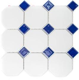 Octa Mosaik weiß mit blau h10077 (und oder) weiß mit schwarz h10078
