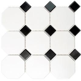 Octa Mosaik weiß mit schwarz Octa G 948N