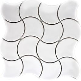 Fan Mosaik weiß h10094, grau h10095, petrol h10096 (und oder) schwarz h10097
