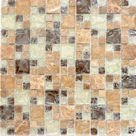Ice Cube Mosaik mix hellbraun h10979