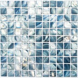 Anadonta Mosaik mix blaugrau h10332 Muschelmosaik SM 2582