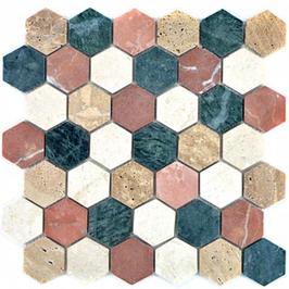 Hainan Mosaik mix creme beige rot grün h10455