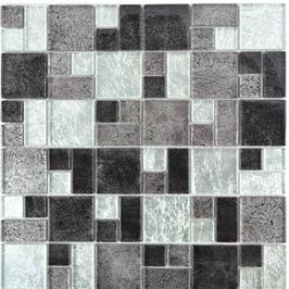 Foil Mosaik mix silber schwarz h10740, mix gold orange braun h10746, orange mit Muster h10753 (und oder) gold mit Muster h10754