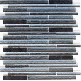Artificial Mosaik Riemchenmosaik / Stabmosaik mix schwarz h10890