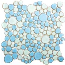 Pebble Mosaik mix hellblau mit hellgrün XKM 79