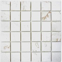 Lime Mosaik weiß h10594