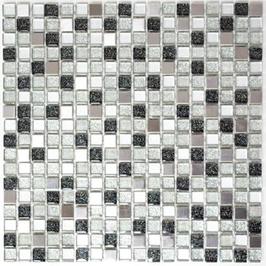 Serap Mosaik mix silber schwarz h10934