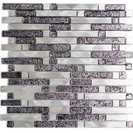 Modern-Mix Mosaik mix schwarz mit silber h10367