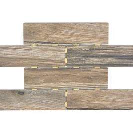 10 Stück Holzoptik Dot Mosaik dunkelbraun h10146