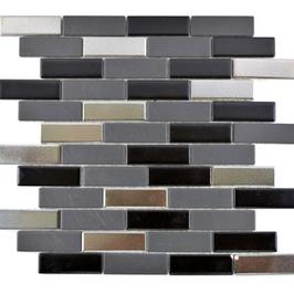 Style Mosaik mix schwarz mit silber h10032