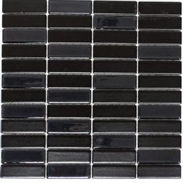 Architecture Mosaik schwarz mit Keramik Glas h10235