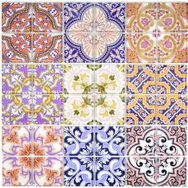 Qin Shi Mosaik mehrfarben bunt h10783
