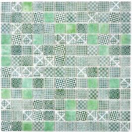 Patch Mosaik grün h10647
